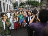 Utopista cínico marchando. Foto de Adriana Branco